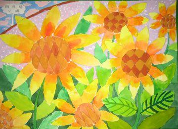向日葵, 水彩