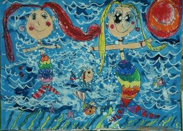 美人鱼钧铅笔画展示