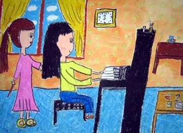 我在弹钢琴